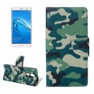 For nova plus Camouflage Pattern Leather Case with Holder, Card Slots & Wallet