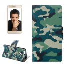 For Honor 8 Camouflage Pattern Leather Case with Holder, Card Slots & Wallet