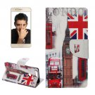 For Honor 8 Big Ben Pattern Leather Case with Holder, Card Slots & Wallet