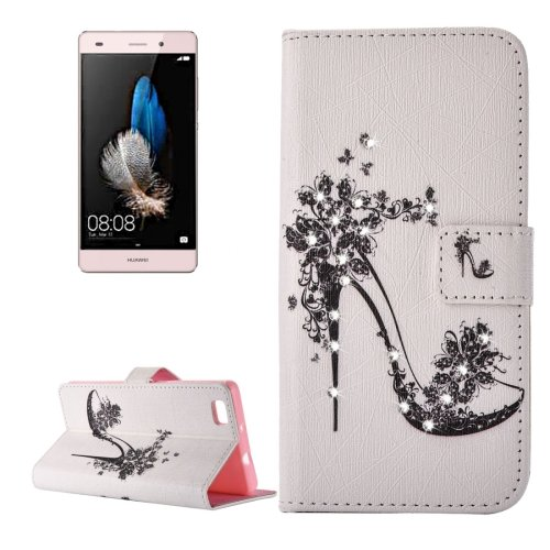 For Huawei P8 Lite heel Pattern Leather Case with Holder, Card Slots & Wallet