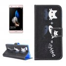 For Huawei P8 Lite Fish Pattern Leather Case with Holder, Card Slots & Wallet