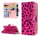 For Huawei P8 Lite Leopard Pattern Leather Case with 9 Card Slots, Wallet & Holder