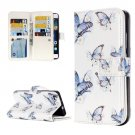 For Huawei P8 Lite Butterflies Pattern Leather Case with 9 Card Slots, Wallet & Holder