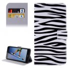 For Honor 5A Zebra Pattern Leather Case with Holder, Card Slots & Wallet