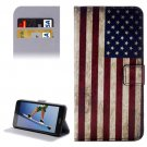 For Honor 5A US Flag Pattern Leather Case with Holder, Card Slots & Wallet