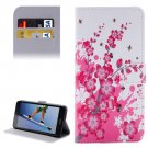 For Honor 5A Blossom Pattern Leather Case with Holder, Card Slots & Wallet