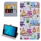 For Honor 5C Owls Pattern Leather Case with Holder, Card Slots & Wallet
