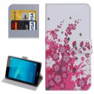For Honor 5C Blossom Pattern Leather Case with Holder, Card Slots & Wallet