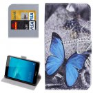 For Honor 5C Butterfly Pattern Leather Case with Holder, Card Slots & Wallet