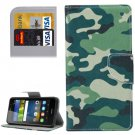 For Y6 Pro Camouflage Pattern Leather Case with Holder, Card Slots & Wallet