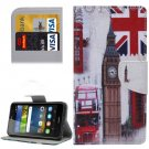 For Y6 Pro Big Ben Pattern Leather Case with Holder, Card Slots & Wallet