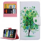 For Y6 Pro Bloom Pattern Leather Case with Holder, Card Slots & Wallet