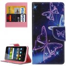 For Y6 Pro Crystal Pattern Leather Case with Holder, Card Slots & Wallet