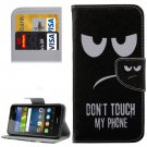 For Y6 Pro Eyes Pattern Leather Case with Holder, Card Slots & Wallet