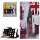 For Huawei Y5 II Big Ben Pattern Leather Case with Holder, Card Slots & Wallet