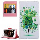 For Huawei Y5 II Bloom Pattern Leather Case with Holder, Card Slots & Wallet