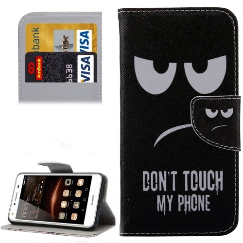 For Huawei Y5 II Eyes Pattern Leather Case with Holder, Card Slots & Wallet