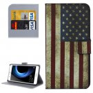 For Honor V8 US Flag Pattern Leather Case with Holder, Card Slots & Wallet