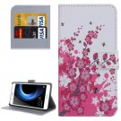 For Honor V8 Blossom Pattern Leather Case with Holder, Card Slots & Wallet