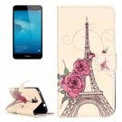 For Honor 5C Rose Pattern Leather Case with Holder, Card Slots & Wallet