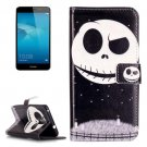 For Honor 5C Ghost Pattern Leather Case with Holder, Card Slots & Wallet