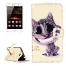 For Huawei Y5 II Smiling Pattern Leather Case with Holder, Card Slots & Wallet