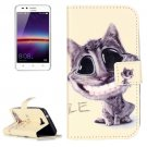 For Huawei Y3 II Smiling Pattern Leather Case with Holder, Card Slots & Wallet