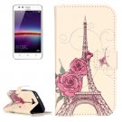 For Huawei Y3 II Rose Pattern Leather Case with Holder, Card Slots & Wallet