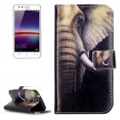 For Huawei Y3 II Elephant Pattern Leather Case with Holder, Card Slots & Wallet