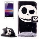 For Huawei Y3 II Ghost Pattern Leather Case with Holder, Card Slots & Wallet