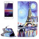 For Huawei Y3 II Painting Pattern Leather Case with Holder, Card Slots & Wallet