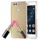 For Huawei P9 Electroplating Mirror Gold PC Case Back Shell Cover