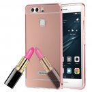 For Huawei P9 Electroplating Mirror Rose Gold PC Case Back Shell Cover