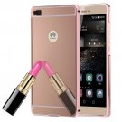 For Huawei P8 Electroplating Mirror Rose Gold PC Case Back Shell Cover
