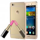 For Huawei P8 Lite Electroplating Mirror Gold PC Case Back Shell Cover