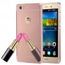 For Huawei P8 Lite Electroplating Mirror Rose Gold  PC Case Back Shell Cover