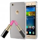 For Huawei P8 Lite Electroplating Mirror Silver PC Case Back Shell Cover