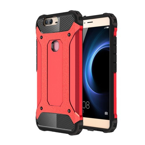For Huawei Honor V8 Red Tough Armor TPU + PC Combination Case