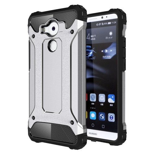 For Huawei Mate 8 Grey Tough Armor TPU + PC Combination Case