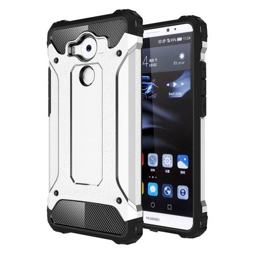 For Huawei Mate 8 Silver Tough Armor TPU + PC Combination Case