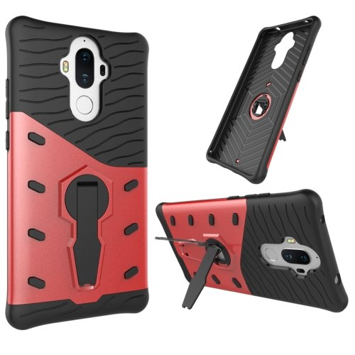 For Huawei Mate 9 Red Rotating TPU + PC Combination Case with Holder