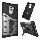 For Huawei Honor 6X Black Rotating TPU + PC Combination Case with Holder
