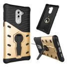 For Huawei Honor 6X Gold Rotating TPU + PC Combination Case with Holder