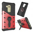 For Huawei nova plus Red Rotating TPU + PC Combination Case with Holder