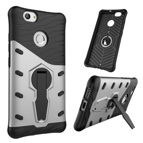For Huawei nova Silver Rotating TPU + PC Combination Case with Holder