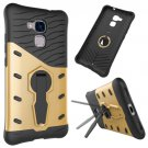 For Huawei Honor 5C Gold Rotating TPU + PC Combination Case with Holder