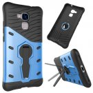 For Huawei Honor 5C Blue Rotating TPU + PC Combination Case with Holder