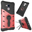 For Huawei Honor 5C Red Rotating TPU + PC Combination Case with Holder