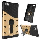 For Huawei P8 Lite Gold Rotating TPU + PC Combination Case with Holder