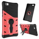 For Huawei P8 Lite Red Rotating TPU + PC Combination Case with Holder